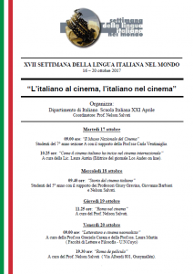 XVII Semana de la lengua italiana  2017